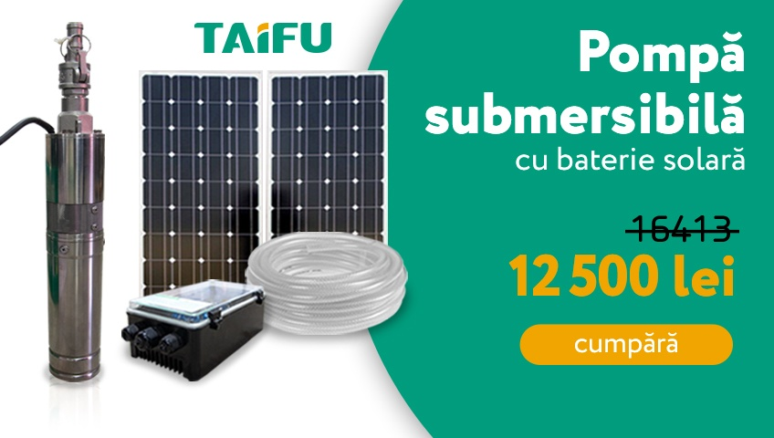 Pompa submersibila cu baterie solara